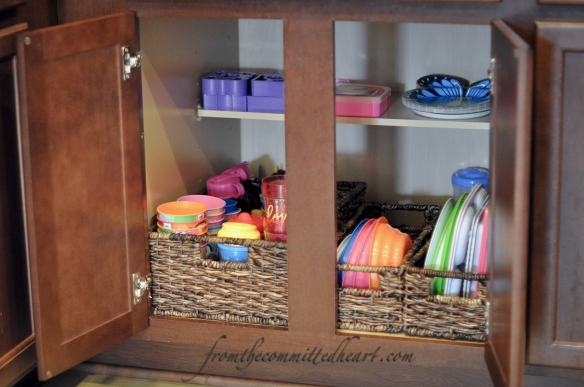 Kids' Cabinet in the Kitchen